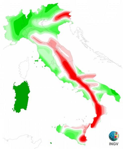 Rischio sismico italia 496 600 for Rischio sismico in italia